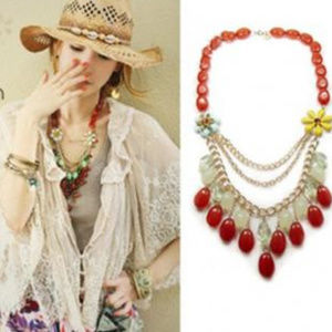 Beautiful Layered Drop Necklace